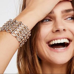 Free People Born To Rock Rose Chain Bracelet